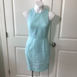 J. Crew Matelasse Sheath Dress Mint Green